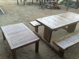 Picnic table with matching coffee table