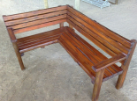 Corner Outdoor Bench (custom made)