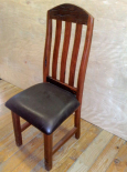 Sleeper wood chair with ox leather