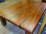Sleeper wood coffee table with 50mm top