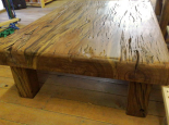 Sleeper wood coffee table with 100mm top